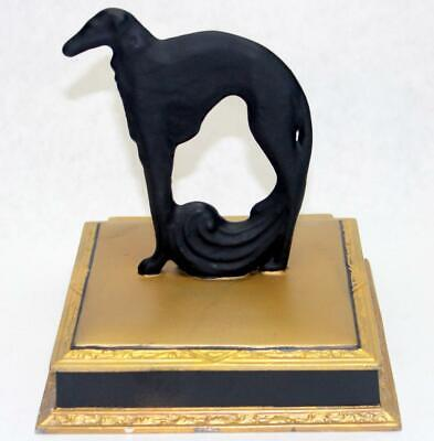 Antique Art Deco Greyhound Whippet Dog Trinket Jewelry Dresser Box