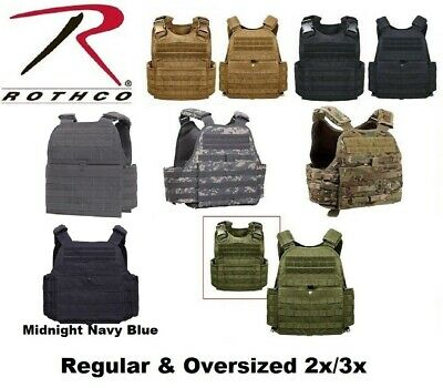 Rothco MOLLE Plate Carrier Tactical Vest Regular & Oversized 2x/3x 8922 - 1922