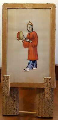 Antique 19th century Chinese Pith, Rice paper painting