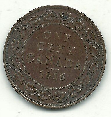 A Fine Condition 1916 Canada Large Cent Coin-Dec190