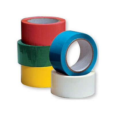 Coloured Strong Packaging Parcel Packing Tape 48mm x 66m Red Blue White Yellow