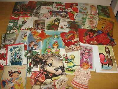 Vintage Christmas and other Greeting Cards New Unused Crafts & Scrapbook