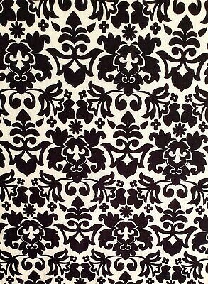 Vintage Print Black And Ivory Crib/Toddler Bed Fotted Cotton Sheet, Handmade