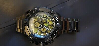 Invicta Reserve Grand Octane Yellow Abalone 63mm Black 27079 Pre-owned