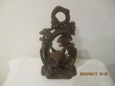 Genuine Victorian cast iron (Fables) Fox & the grapes door stop circa 1850s