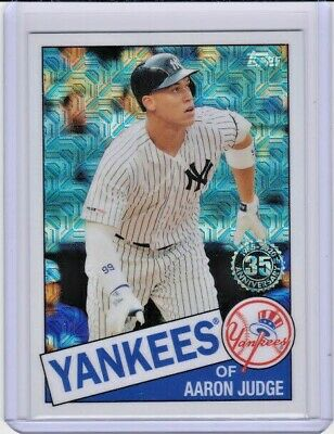 Aaron Judge 2020 Topps Series 1 SILVER PACK 1985 CHROME REFRACTOR 85C-27 Yankees