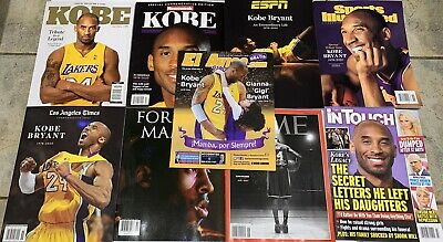 Kobe Bryant 9 Magazine Lot ESPN LA Times Time in Touch Sports Illustrated & More