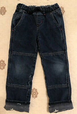 Mini Boden Boys Blue Dark Wash Lined Stars Jeans Pants Size 5