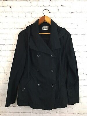 Converse One Star Double Breasted Jacket w/ Hood Black Size Large