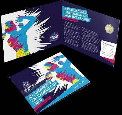 2020 ICC Cricket T20 Womens World Cup - $2 Dollar UNC Coin In Folder