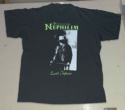 Fields of the Nephilim Earth Inferno Vintage Tshirt Reprint New Size S-2XL