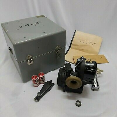 WWII Navy Bendix Aviation Corporation bubble type sextant.with box