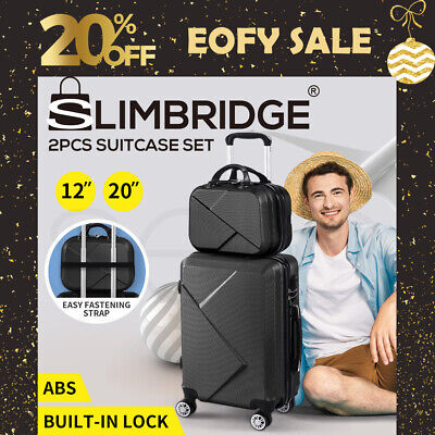 "2pcs 20""Travel Luggage Set Baggage Trolley Carry On Suitcase Vanity Bag Luggages"