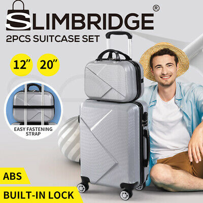 """2pcs 20""""Travel Luggage Set Baggage Trolley Carry On Suitcase Vanity Bag Luggages"""