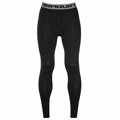 Under Armour HeatGear Core Baselayer Tights Mens Black Football Soccer Pants