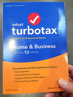 Intuit TurboTax Home & Business 2019, 12 Returns, Bilingual - Canadian Version
