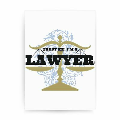 Lawyer funny print poster framed wall art decor