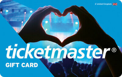 Ticketmaster Gift Card value £20 Long Expiry