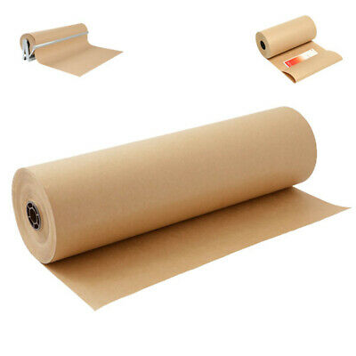 Recycled Brown Kraft Wrapping Parcel Gift Paper Roll Heavy Duty - All Size FREE