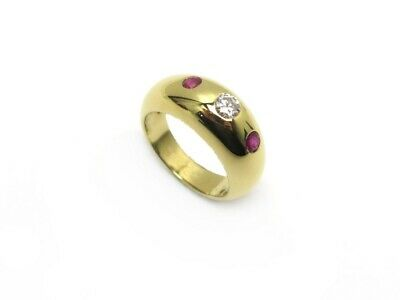 Bague Cartier Gypsy T48 Or Jaune 18K Diamant 0.24 Ct & Rubis 0.22 Ct Ring 4360€