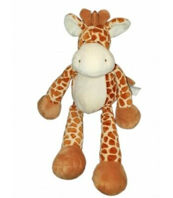 DOUDOU PELUCHE GIRAFE marron Allonge 25 cm Nature Planet