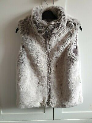 Girls Tu Grey Faux Fur Gilet. Size 7-8 Yrs Great Condition