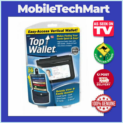 Top Wallet◉AS SEEN ON TV◉Easy-Access Vertical Design◉RFID Shield◉Slim◉Cards Cash