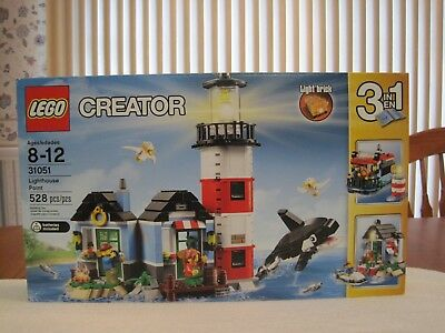 2016 Lego #31051 Creator Lighthouse Point 3 In 1--New--Factory Sealed