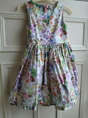 SIZE 3 TO 8 BNWT GIRLS SUMMER NAVY FLORAL COTTON FLORAL DRESS
