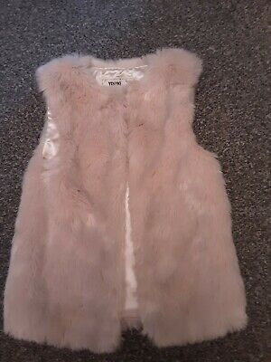girls young dimension faux fur gillet aged 6-7 years