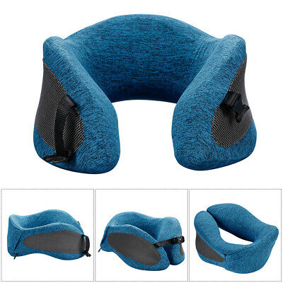 Travel Pillow Memory Foam U Shaped Neck Support Head Rest Airplane Bus Cushion