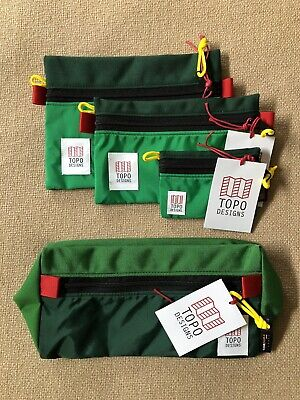Topo Designs Bundle: Accessory Bags & Dopp Kit In Kelly/Forest, New w/ Tags