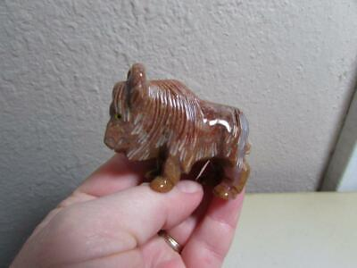 Buffalo (Bison), Hand carved Marble from the Andes. Multi Stone Buffalo, Unique