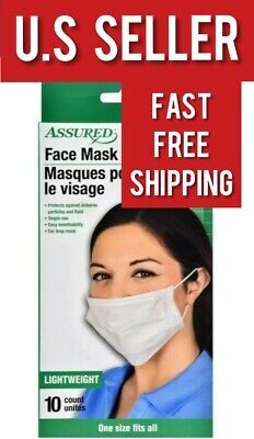 20 PCS Disposable Face Mask Surgical Medical Dental Industrial 3-Ply Ear Loop