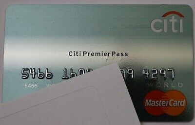 Expired Citi Bank Premier Pass World Master Card Credit Card USA Mint