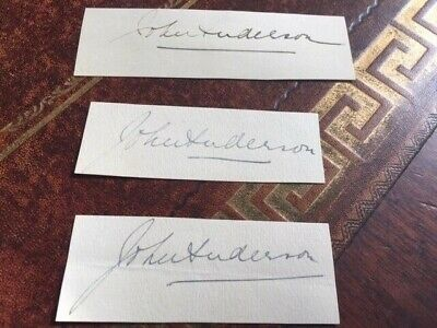 Sir John Anderson Governor Of Bengal Autograph