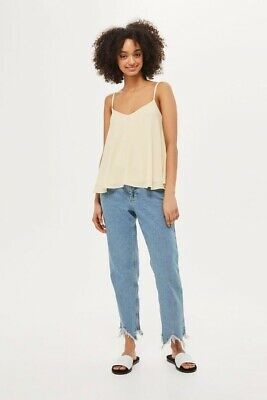 Topshop TALL Lemon Rouleau Swing Camisole Top BNWT Size Uk 12