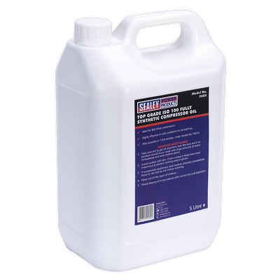 Sealey Compressor Oil Fully Synthetic 5L - FSO5