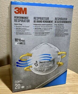 New 3M N95 8210 Particulate Respirator Protection Mask 20-Masks!