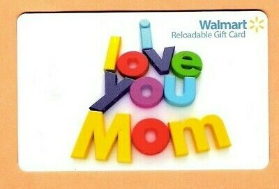 Collectible Walmart Gift Card - Colorful  'I Love You Mom' - No Value - FD40735