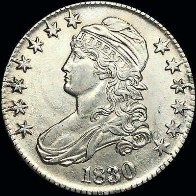 1830 Capped Bust Silver Half Dollar. LOW SHIPPING!!