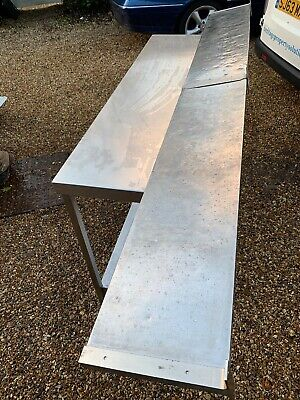 Catering Wall Shelve Stainless Steel Used 2.4mts Long