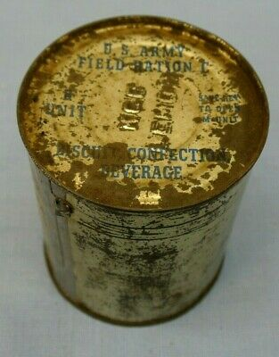Vintage U.s. Army Field Ration C Can Biscuit Confection