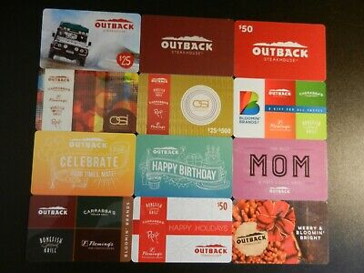 Lot Of Twelve (12) Different Collectible Only *Outback Steakhouse* Gift Cards