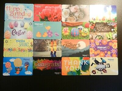Large Lot Of Thirty-Two (32) Different Collectible Only *Walmart* Gift Cards