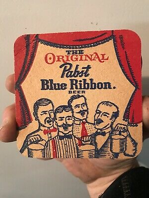 10 PABST BLUE RIBBON Beer Beverage Coasters Advertising Milwaukee, WI