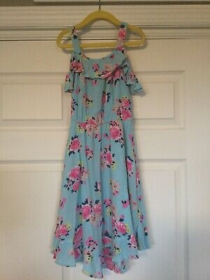 Justice Youth Girls Blue Floral Spring Dress, Size 10. Beautiful!
