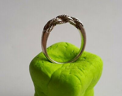 Finger Ring Viking Saxon twisted silver Scandinavian braided bead wire band rare