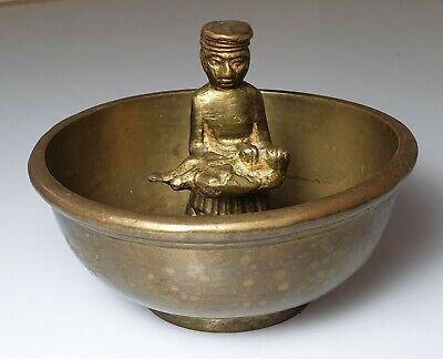 A Qing Dynasty Chinese/Tibetan Brass Singing /Birthing Bowl