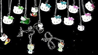 Joblot Of Older Childrens Enamel Kitty Necklaces